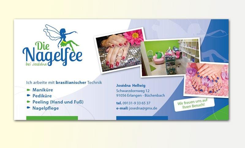 Gestaltung Flyer für Nagelstudio in Erlangen