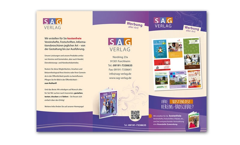 Gestaltung und Druck kostenlose Festschriften SAG Verlag Forchheim