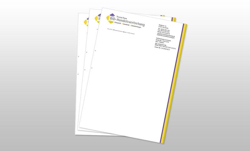 Briefbogen Druckerei Forchheim 2S-ART