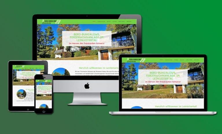 Website Beispiel Ferienwohnung Bergbungalows