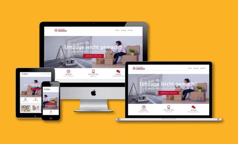 Website Beispiel Umzugsfirma