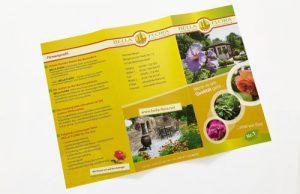 Flyer Gestaltung für Werbung Bella Flora Ebermannstadt