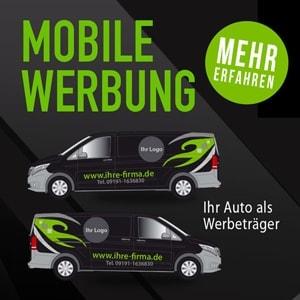 Fahrzeugbeschriftung, Autobeschriftung Forchheim 2S-ART Werbeagentur Forchheim