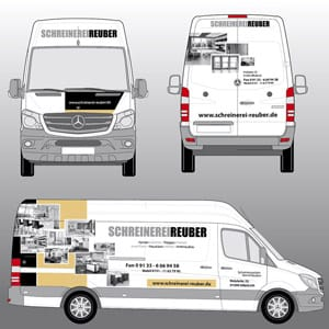 Autowerbung mit Digitaldruck Forchheim