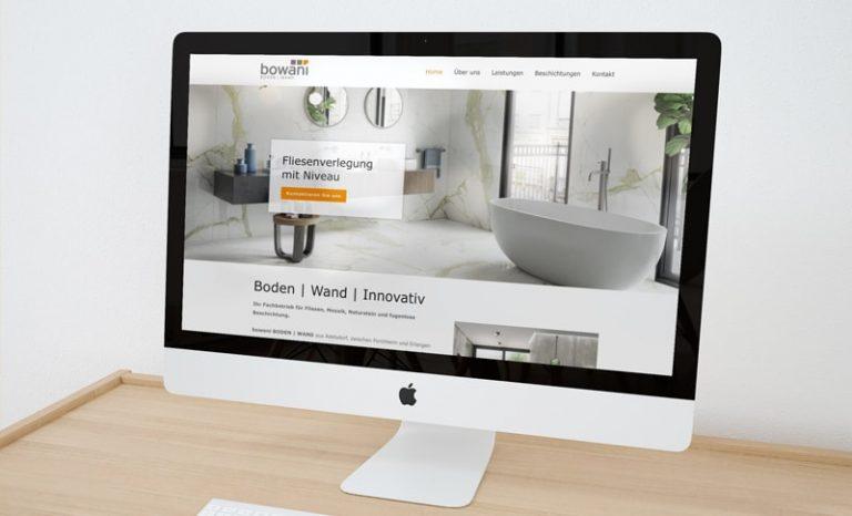 Webdesign Fliesenlager Bowani boden   wand
